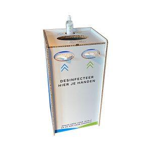 Desinfectie voor winkelier, op kantoor, het mkb of iedere andere openbare gelegenheid.
