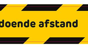 sticker hou afstand in nederland