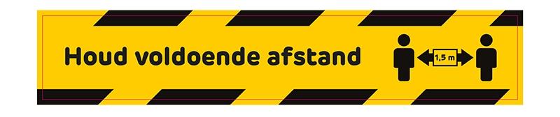 sticker hou afstand in nederland